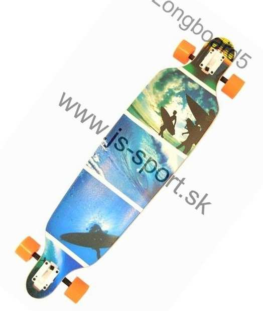 Longboard Drop Shape blue